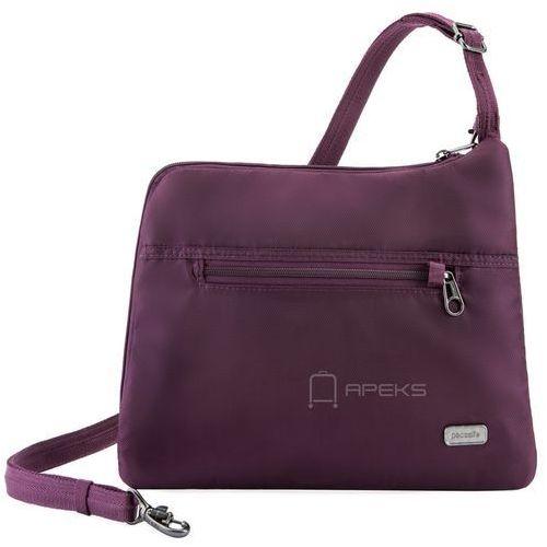 Pacsafe daysafe slim crossbody damska torebka na ramię / fioletowa - blackberry