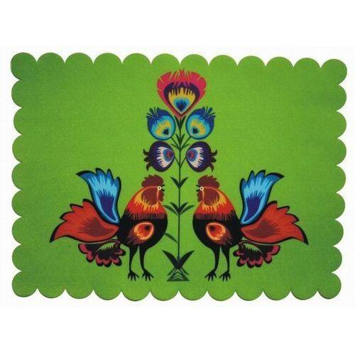 Pracownia artystyczna Podkładka dekoracyjna koguty i kwiaty