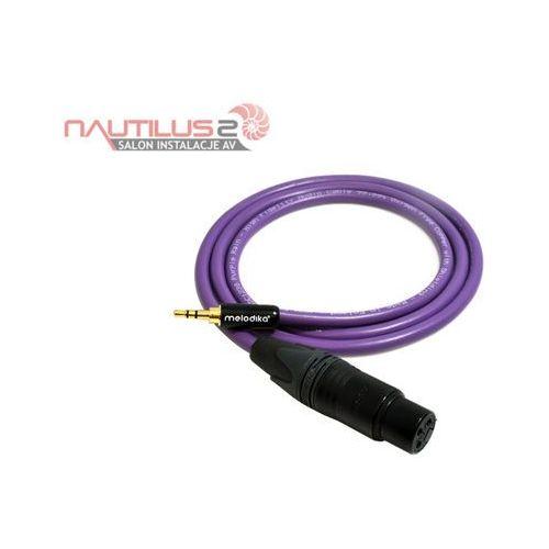 Melodika MDMJX80 Kabel gniazdo XLR 3pin - wtyk jack 3,5mm 8m - 5 lat gwarancji! - Dostawa 0zł!