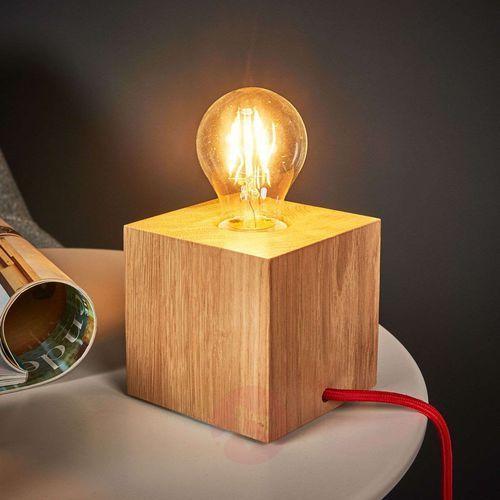 Lampa stołowa Spot Light Trongo 1x60W E27 dąb/czerwony 7171670