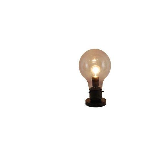 Vente-unique Lampa stojąca w kształcie żarówki w industrialnym stylu - metal i szkło- 22 x 22 x 38 cm - kolor czarny