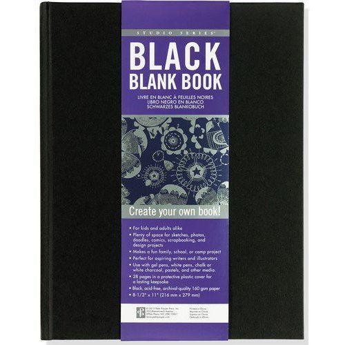Niezapisana książka czarna marki Peter pauper press