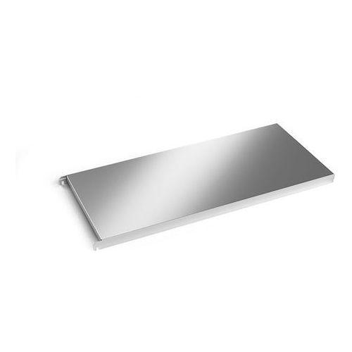 Półka ze stali szlachetnej, półka narożna gładka, szer. x głęb. 940x440 mm. z ma marki Kek