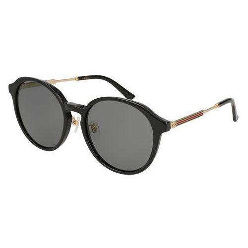Okulary Słoneczne Gucci GG 0205SK 001, kolor żółty