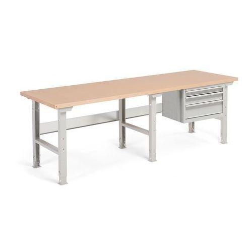 Aj produkty Stół warsztatowy robust, z regulacją wysokości, 3 szuflady, 800x2500 mm