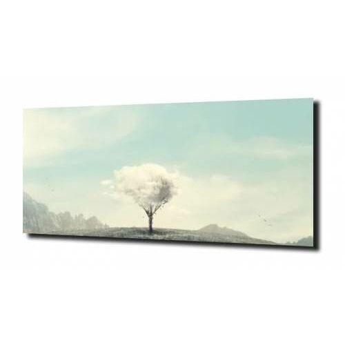 Obraz na szkle, panel szklany białe drzewo 120x60 marki Zahartowani.pl