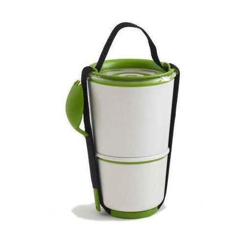 Black+blum Pojemnik na lunch lunch pot biało-zielony