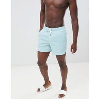 Abercrombie & Fitch solid swim shorts badge pocket logo in aqua blue - Blue, szorty