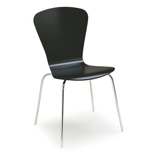 Krzesło do stołówki MILLA, sztaplowane, czarny, kolor czarny