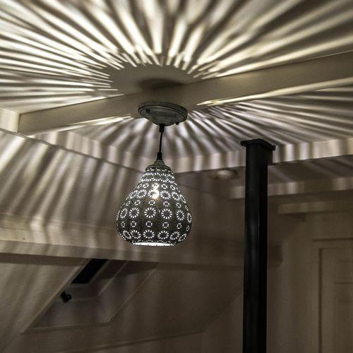 Orientalna lampa wisząca szara - billa marki Trio leuchten