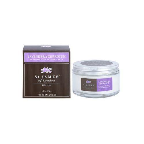 lavender & geranium krem do golenia dla mężczyzn 150 ml + do każdego zamówienia upominek. wyprodukowany przez St. james of london