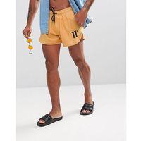 11 Degrees Logo Swim Shorts In Yellow - Yellow, 1 rozmiar