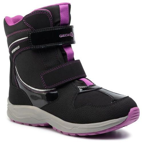 Śniegowce GEOX - J N. Alaska G. B Wpf A J948BA 050FU C9233 D Black/Violet, kolor czarny