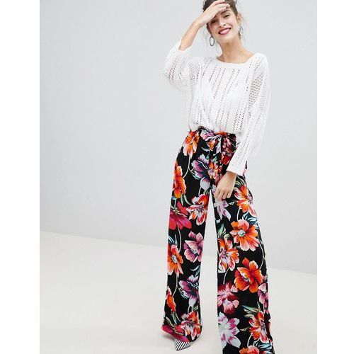 floral trousers - multi marki Stradivarius