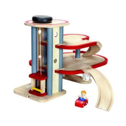Plan Toys, Drewniany piętrowy parking