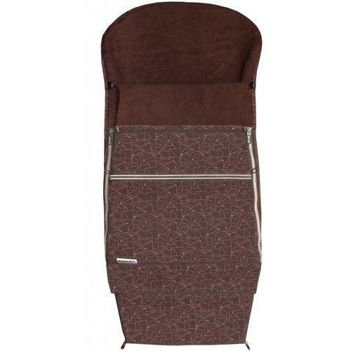 Emitex śpiworek do wózka combi extra, brązowy (8595624428849)