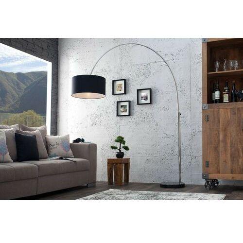 Sofa.pl Invicta lampa podłogowa slack czarna - marmur, metal