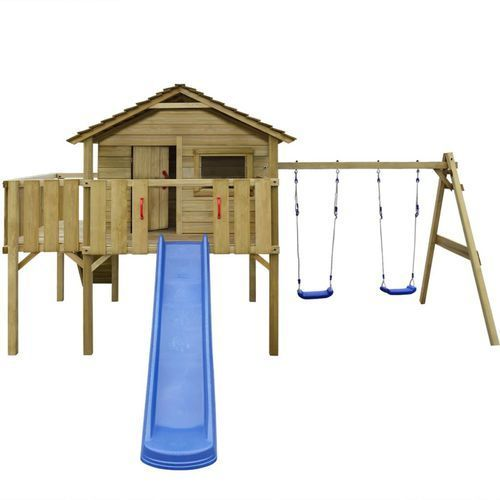 vidaXL Plac zabaw z drabiną, zjeżdżalnią i huśtawkami 480x440x294 cm (8718475971498)
