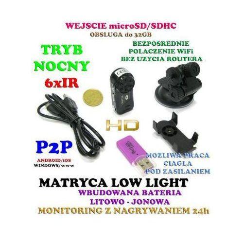 Mini-Kamera HD (wielkości kciuka!) WiFi/P2P (cały świat!) Dzienno-Nocna + Zapis, Akcesoria itd., 5907773414942