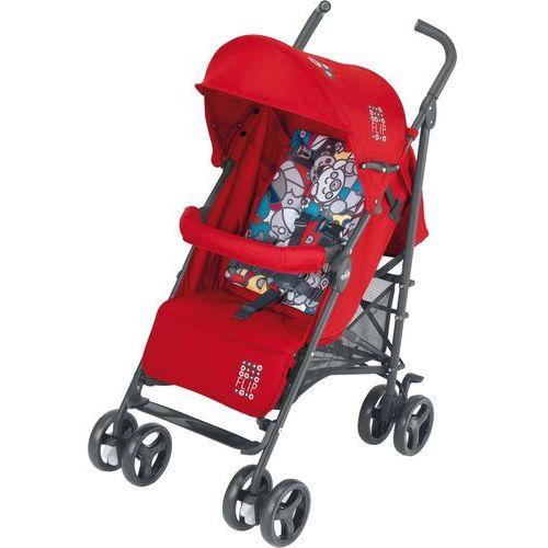 CAM Wózek spacerowy Flip + pokrowiec na nóżki – czerwony