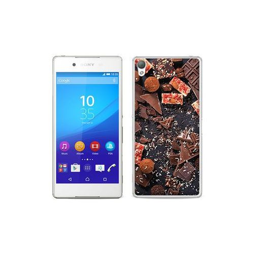 etuo Foto Case - Sony Xperia Z3+ - etui na telefon Foto Case - kawałki czekolady, kolor brązowy