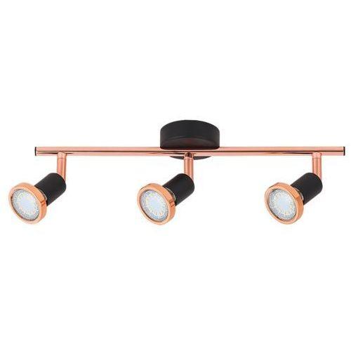 Rabalux Listwa lampa sufitowa valentine 3x50w gu10 czarny mat/miedź 6848