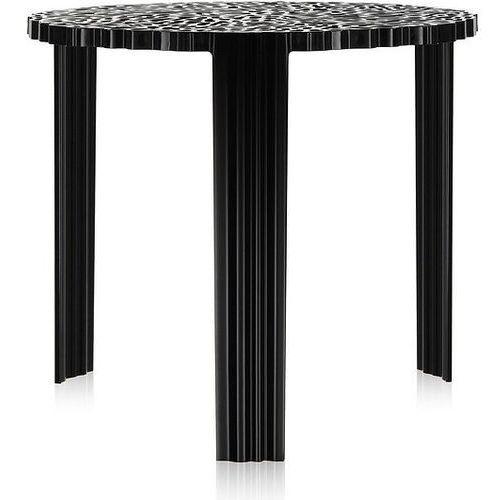 Kartell Stolik t-table 44 cm czarny nieprzezroczysty