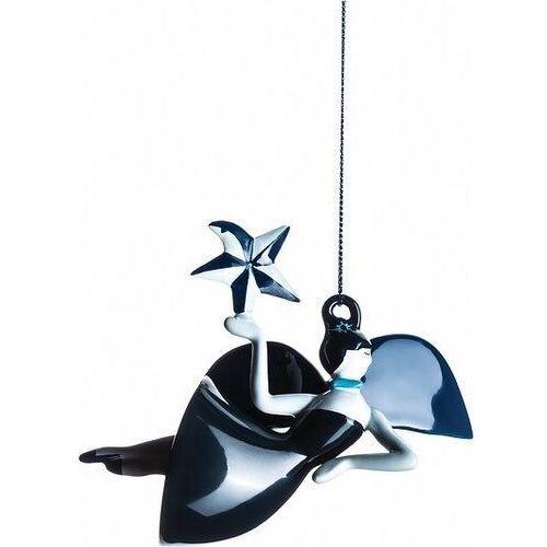 Dekoracja świąteczna Blue Christmas anioł, AAA08 2