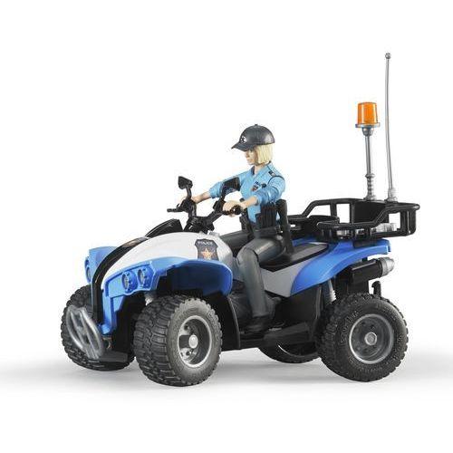 Quad z Policjantką i Akcesoriami BRUDER 63010, 4001702630102