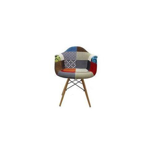 """Krzesło """"orio""""- patchwork z bukowymi nogami marki Pozostali"""