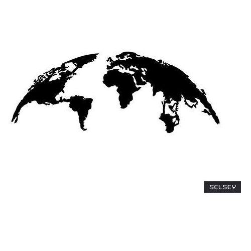 Selsey dekoracja ścienna algieba 120x47 cm czarna (5903025399867)