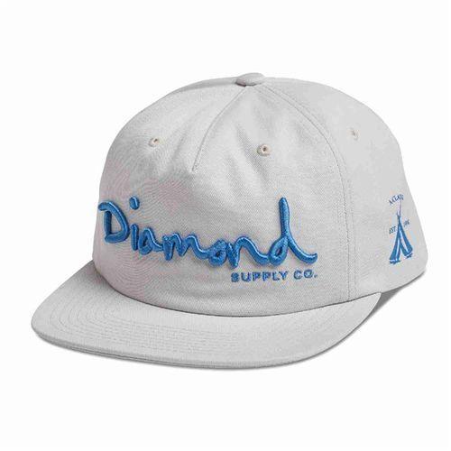 Czapka z daszkiem - og script unstruct snapba sp18 white (wht) rozmiar: os marki Diamond