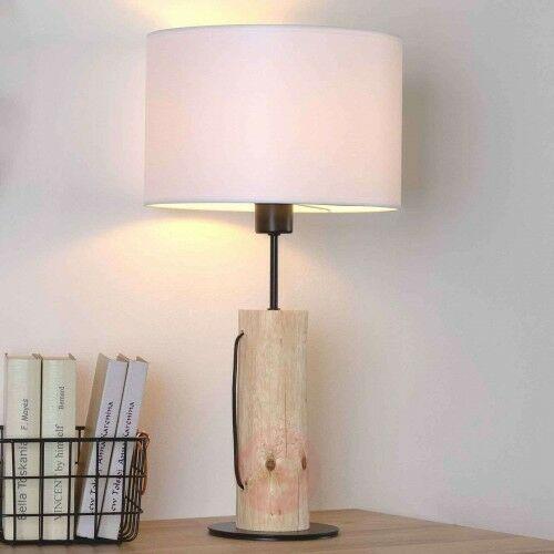 Lampa stołowa Pino Table, naturalne drewno sosnowe