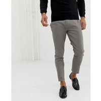 Pull&bear slim tailored trousers in houndstooth - tan