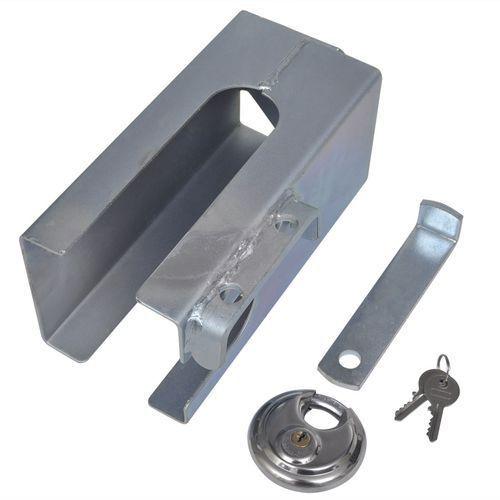 Vidaxl  blokada zaczepu antykradzieżowa z kłódką 110 x mm, kategoria: blokady i alarmy motocyklowe