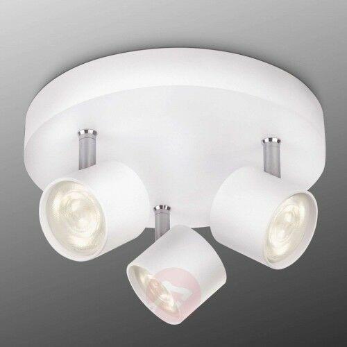 Philips 3-punktowa lampa sufitowa led star, biała okrągła