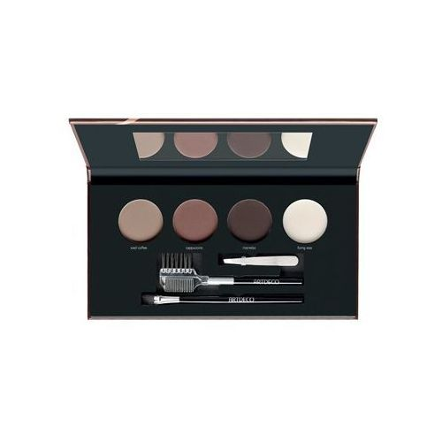 let's talk about brows most wanted paletka pudrowych cieni do brwi odcień 58282.4 medium/dark 4 x 1,8 g marki Artdeco