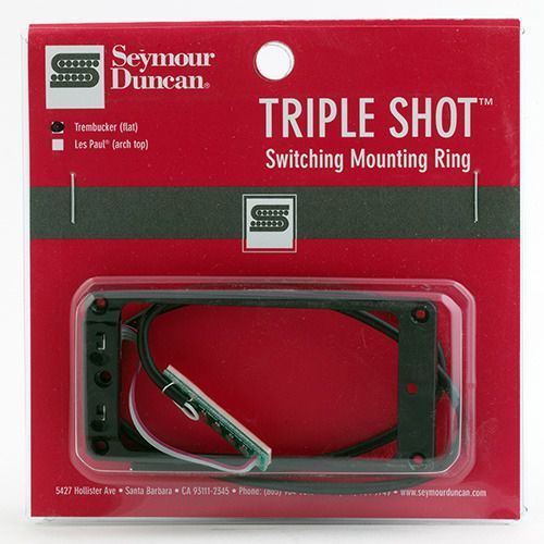 Seymour Duncan STS 1S BLK Triple Shot, Switching Mounting Ring Set, Flat/Trembucker - Black