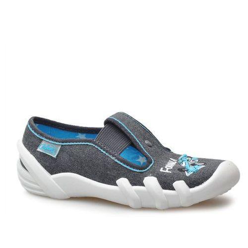 Kapcie dziecięce 290x174 szare/niebieskie wyścigówka marki Befado