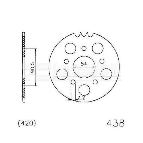 Zębatka tylna stalowa jt 50-32075-42, 42z, rozmiar 520 2301041 ducati monster 800 marki Jt sprockets