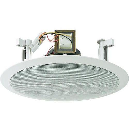 Głośnik sufitowy PA do zabudowy Monacor EDL-28, 100 dB, 60 - 14 000 Hz, 100 V, Kolor: biały, 1 szt. (głośnik, monitor odsłuchowy)