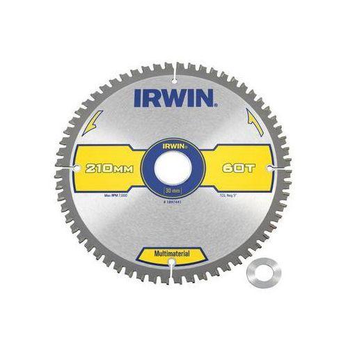 Tarcza do pilarki tarczowej 210mm/60t/30(20) śr. 210 mm 60 z marki Irwin multimaterial
