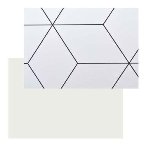 Panel przyblatowy laminowany Kasei 0,3 x 60 x 180 cm geometryczny / biały