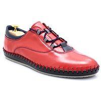 312 czerwone - miękkie buty ręcznie szyte marki Kent