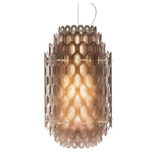 Pomarańczowo-brązowa designerska lampa wisząca marki Slamp