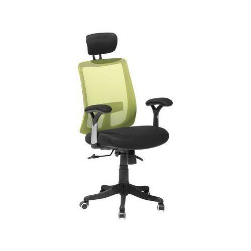 Krzesło biurowe zielone regulowana wysokość jasper marki Beliani