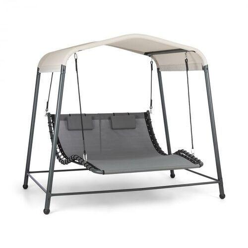 Blumfeldt palermo, leżak bujany 2-osobowy, wolnostojący, rama stalowa, poduszki, dach, szary