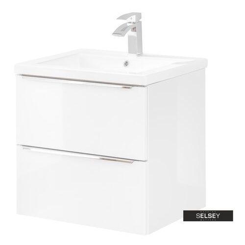 SELSEY Szafka pod umywalkę Ursala 60 cm biała (5903025398549)