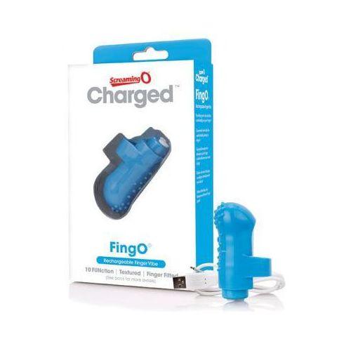 The screaming o Wibrator na palec - charged fingo finger vibe blue