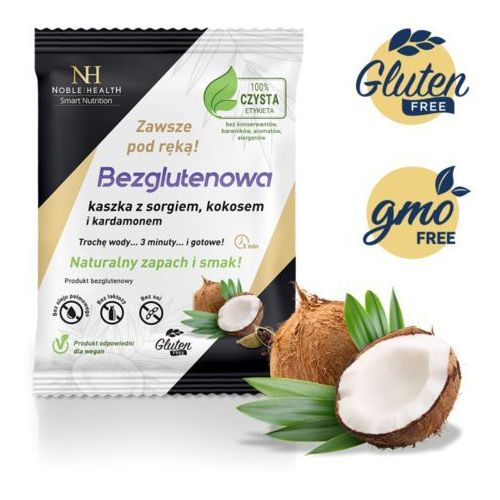 Kaszka bezglutenowa - sorgo, kokos i kardamon marki Noble health